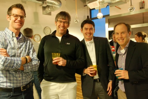 CEO of Jumpstart Foundry Vic Gatto (far right) met with digital health entrepreneurs in Denver on February 11th.