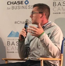 """Boomtown CEO Toby Krout speaking at """"Mental Health in the Startup Scene"""""""